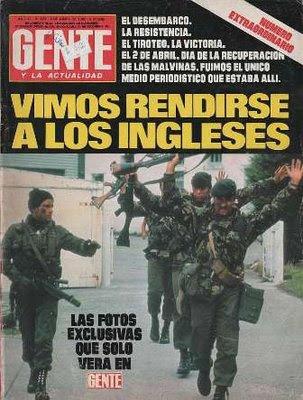 Capa de revista falando da invasão argentina