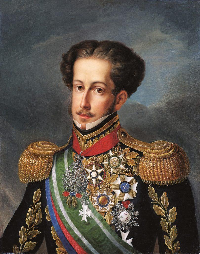 Dom Pedro I. Retrato por Simplício Rodrigues de Sá, c. 1830