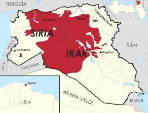 mapa do estado islamico atual